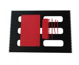 Weaving Loom Boards Set, RED 95 x 160mm & BLACK A4 Size, Comb & Needles. S7801